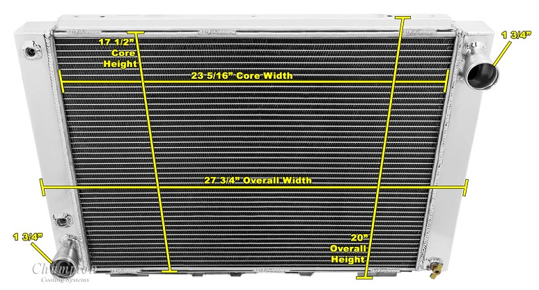 thunderbird radiator 64 66. Black Bedroom Furniture Sets. Home Design Ideas