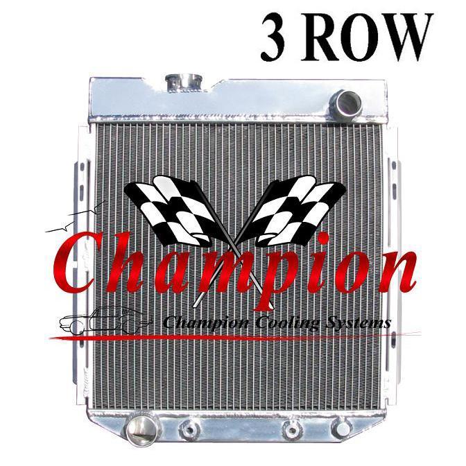 3 Row Aluminum Radiator Shroud Fan For Ford Mustang Svo: Mustang V8 Conversion 3-row Radiator (64-66
