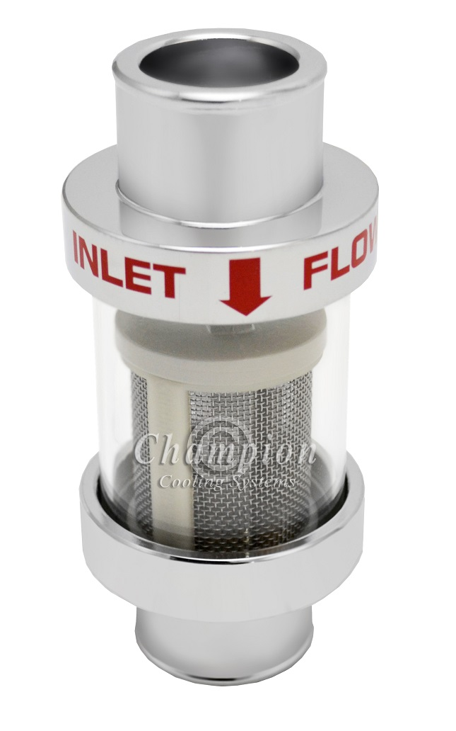 Inline Coolant Filter Chrome