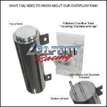 3x16 Polished Overflow Tank
