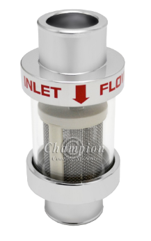 Inline Coolant Filter (Chrome)