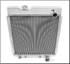 Universal Ford Radiator 16.38 x 17.25 Passenger side Outlet