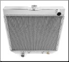 (62-69) Fairlane Radiator; Driver side outlet