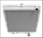 "Universal Ford Radiator 16.38 x 20"" Passenger side Outlet"