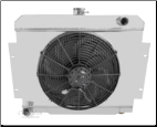 "74 Ambassador Radiator Shroud & Single 16"" Fan Combos"