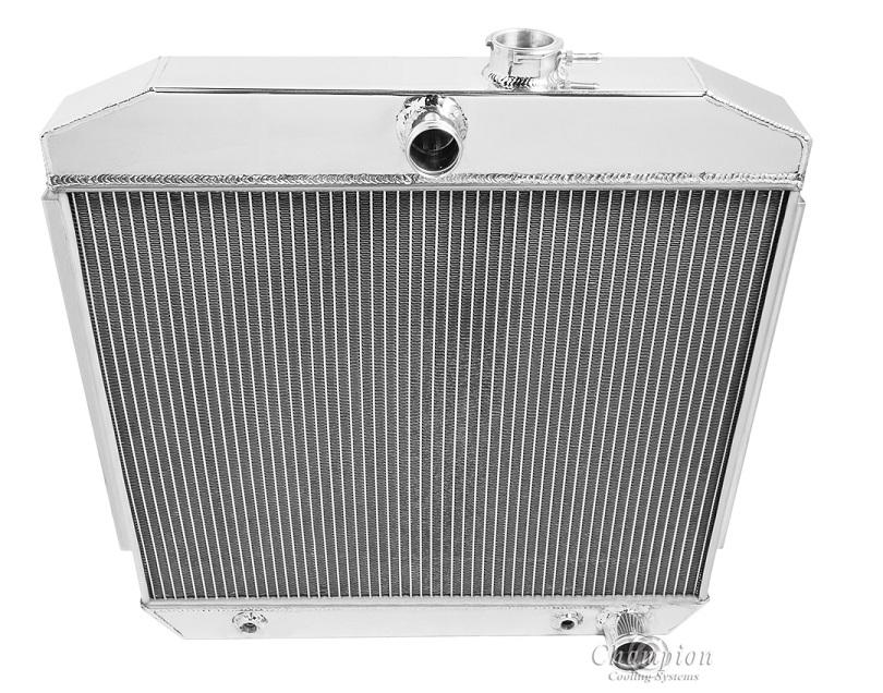 Fit 61-66 Chevy//GMC C//K Series Truck Pontiac Bonneville AT//MT Aluminum Radiator