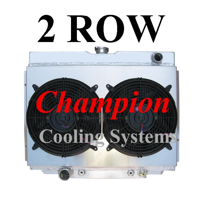 "3-ROW ALUMINUM RADIATOR+2X 9/"" FAN RED FOR 51-57 INTERNATIONAL HARVESTER L//R//S"