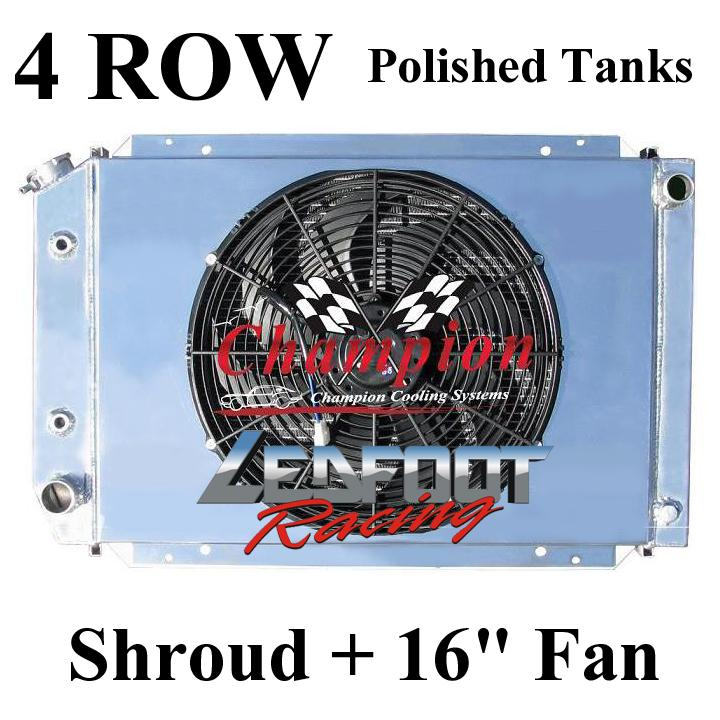 "2 Row Champion Radiator For 1983-1986 Ford LTD With Shroud /& 16/"" Fan l"